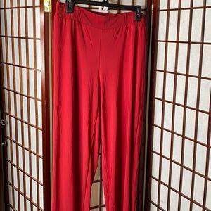 Red XL short palazzo pants